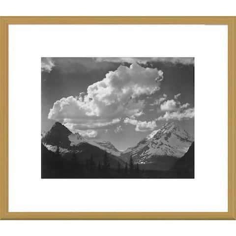 Global Gallery Ansel Adams 'Trees in Glacier National Park, Montana' Framed Art