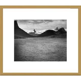 Global Gallery Ansel Adams 'St. Mary's Lake, Glacier National Park, Montana' Framed Art