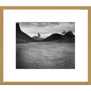 Global Gallery Ansel Adams 'St. Mary's Lake, Glacier National Park, Montana' Framed Art