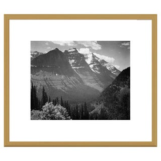 Big Canvas Co., Ansel Adams 'Snow Covered Mountains, Glacier National Park, Montana' Framed Art