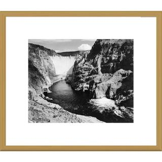 Big Canvas Co., Ansel Adams 'Hoover Dam from Across the Colorado River' Framed Art