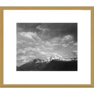 Global Gallery Ansel Adams 'Heaven's Peak, Glacier National Park, Montana' Framed Art