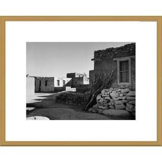 Global Gallery Ansel Adams 'Street and Houses - Acoma Pueblo, New Mexico' Framed Art