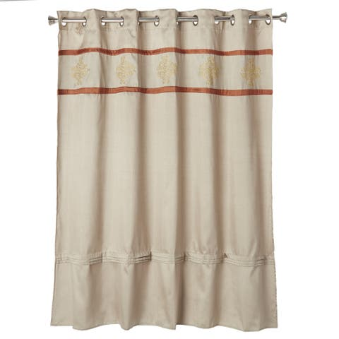 Windsor Home Radcliff Embroidered Shower Curtain with Grommets