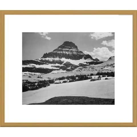 Global Gallery Ansel Adams 'View from Logan Pass, Glacier National Park, Montana' Framed Art