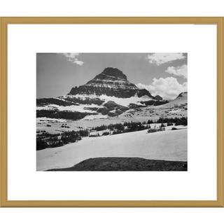 Big Canvas Co., Ansel Adams 'View from Logan Pass, Glacier National Park, Montana' Framed Art