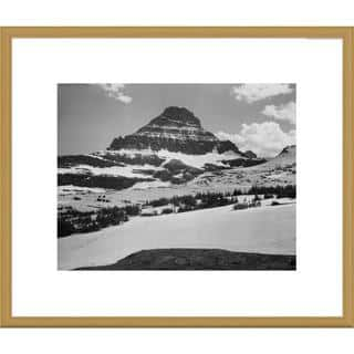Global Gallery Ansel Adams 'View from Logan Pass, Glacier National Park, Montana' Framed Art