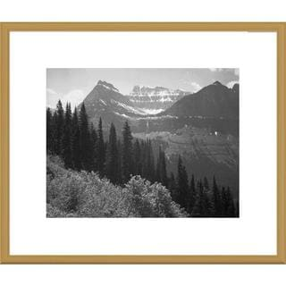 Big Canvas Co., Ansel Adams 'Trees, Bushes and Mountains, Glacier National Park, Montana' Framed Art