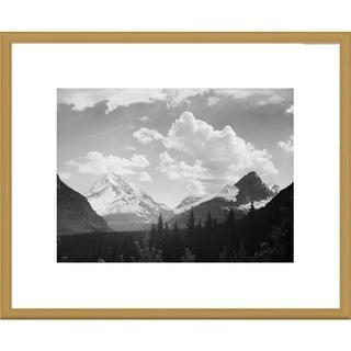 Global Gallery Ansel Adams 'Mountains and Clouds, Glacier National Park, Montana' Framed Art