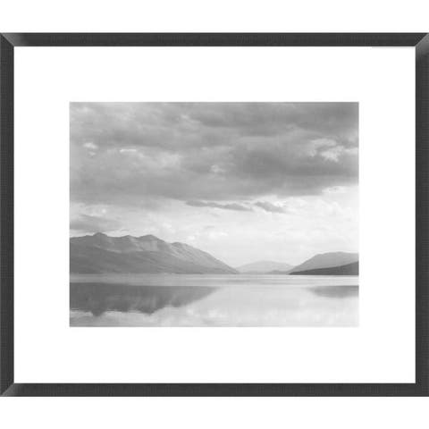 Global Gallery Ansel Adams 'Evening, McDonald Lake, Glacier National Park, Montana' Framed Art