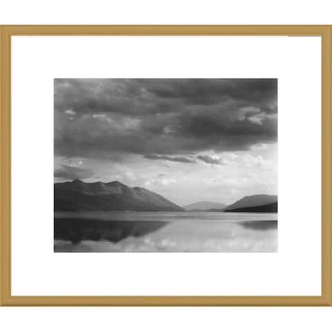 Global Gallery Ansel Adams 'Evening, McDonald Lake, Glacier National Park, Montana' Framed Art