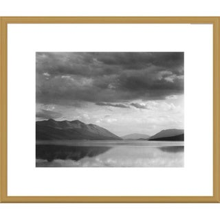 Big Canvas Co., Ansel Adams 'Evening, McDonald Lake, Glacier National Park, Montana' Framed Art