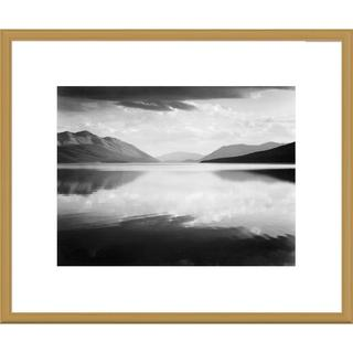 Global Gallery Ansel Adams 'Evening, McDonald Lake, Glacier National Park, Montana' Framed Art (4 options available)