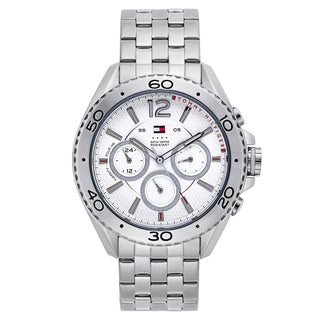 Tommy Hilfiger Men's Silvertone Stainless Steel Japanese Quartz Watch