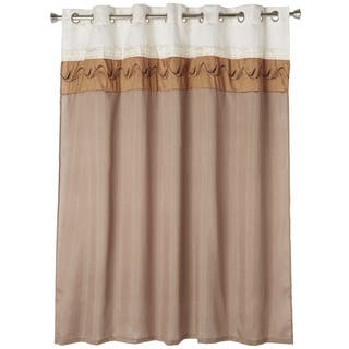 off white shower curtains for less vibrant fabric bath curtains. Black Bedroom Furniture Sets. Home Design Ideas