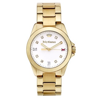 Juicy Couture Women's Goldtone Goldtone Japanese Quartz Watch