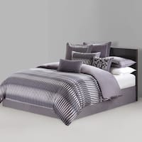 N Natori Abstract Stripe 4-piece Comforter Set