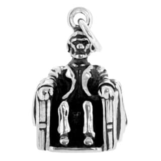 Sterling Silver Lincoln Memorial Charm (17 x 12 mm)
