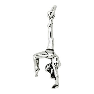 BSE Sterling Silver Polished Gymnast Charm (29 x 10 mm)