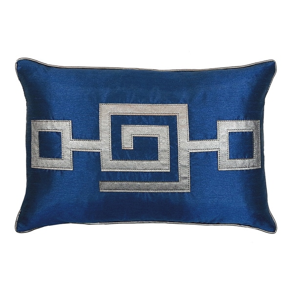 Shop Modern Greek Key Pillow 12 Inches By 18 Inches Free