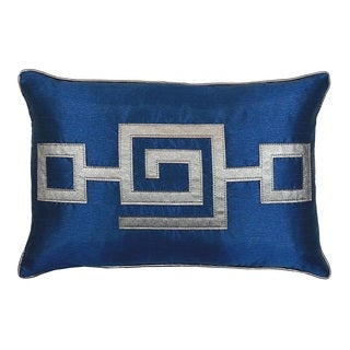 Modern Greek Key Pillow (12 inches by 18 inches)