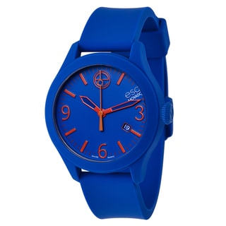 ESQ by Movado Men's Blue Rubber and Stainless Steel Swiss Quartz Watch