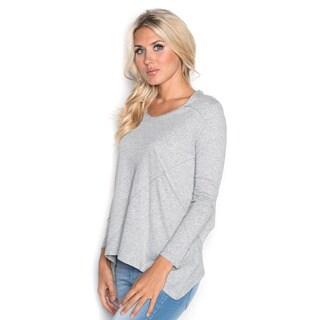 Beam Women's Grey Long Sleeve Tee