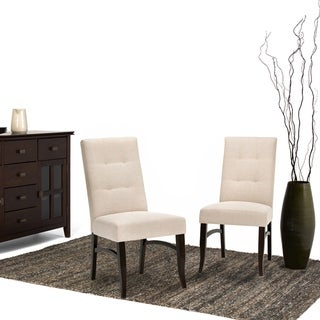 WYNDENHALL Hawthorne Contemporary Deluxe Dining Chair (Set of 2) (Upholstered/Wood - Foam - Natural)