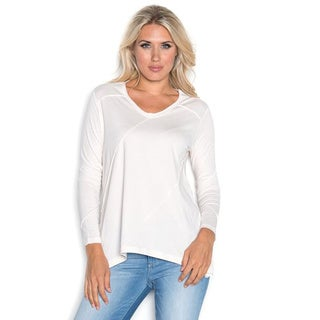 Beam Women's White Long Sleeve Tee