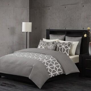 Metropolitan Home Brockton Grey 3-piece Comforter Set