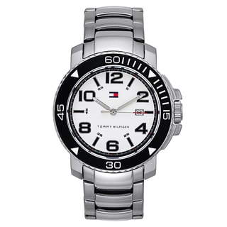 Tommy Hilfiger Men's Stainless Steel Splash-Resistant Analog Watch with Date Window