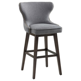Sunpan ARIANA SWIVEL BARSTOOL - DARK GREY FABRIC