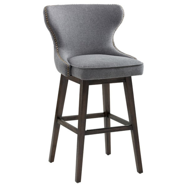 Sunpan Ariana Swivel 30 Quot Barstool Dark Grey Fabric