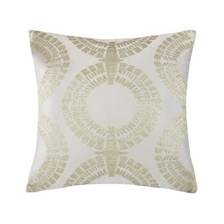 Metropolitan Home Laval Silver Square Pillow