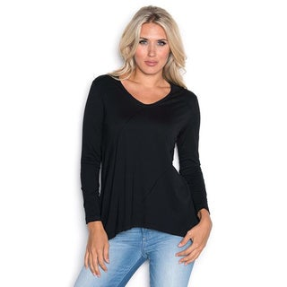 Beam Women's Black Long Sleeve Tee