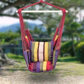 Sorbus Red Hanging Rope Chair Patio Porch Swing Seat|https://ak1.ostkcdn.com/images/products/11742197/P18659360.jpg?impolicy=medium