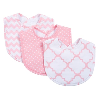 Trend Lab Pink Sky Bib Set (Pack of 3)