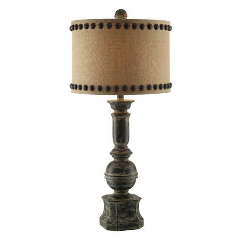 Iron Baluster Antique Iron 32-inch Table Lamp