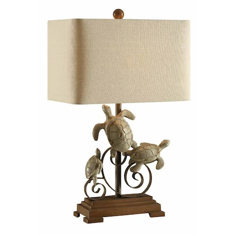 Turtle Bay Antique Wood Finish 26-inch Table Lamp