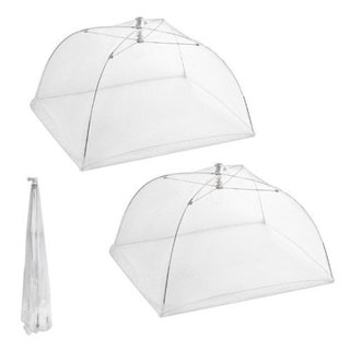 Set of 2 Large Pop-up Mesh Screen Food Cover Tents Keep Out Flies Bugs Mo...