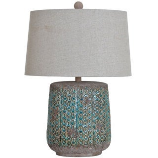 Crestview Collection 31.5-inch Turquoise Stone Table Lamp
