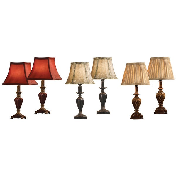 Brown Resin Assortment Accent Lamps (Set of 6)