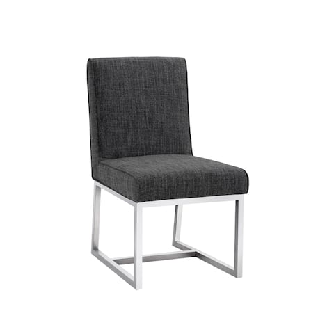 Sunpan MILLER DINING CHAIR - QUARRY FABRIC (Set of 2) - Medium