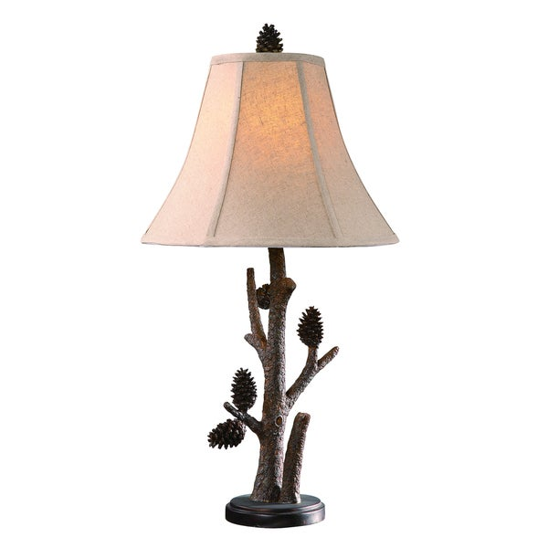 Crestview Collection 27.5-inch Pinecone Table Lamp