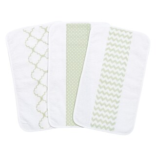 Trend Lab Sea Foam Jumbo Burp Cloth Set (Pack of 3)