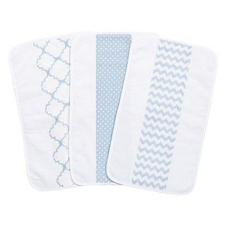 Trend Lab Blue Sky Jumbo Burp Cloth Set (Pack of 3)