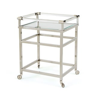 3-Tiered Glass & Nickel Cart