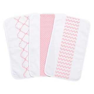 Trend Lab Pink Sky Jumbo Burp Cloth Set (Pack of 3)
