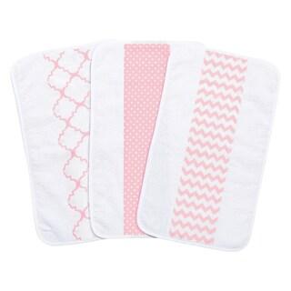 Trend Lab Pink Sky Jumbo Burp Cloth Set (Pack of 3)