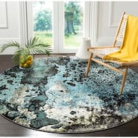 Safavieh Glacier Abstract Watercolor Blue/ Multi Area Rug - 8' x 10'